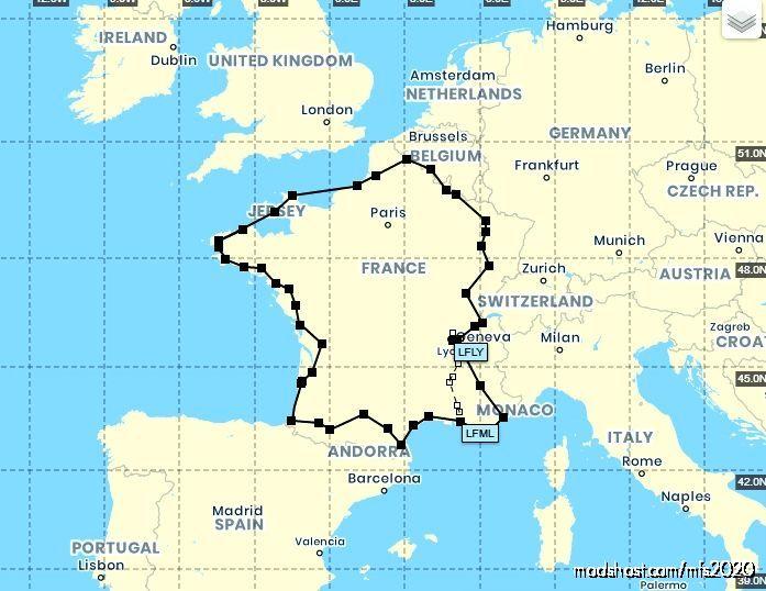 Flight Plan | Tour DE France Linkairways VA | for Microsoft Flight Simulator 2020