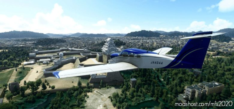 JA4044 For Justflight PA28R Turbo Arrow IV for Microsoft Flight Simulator 2020
