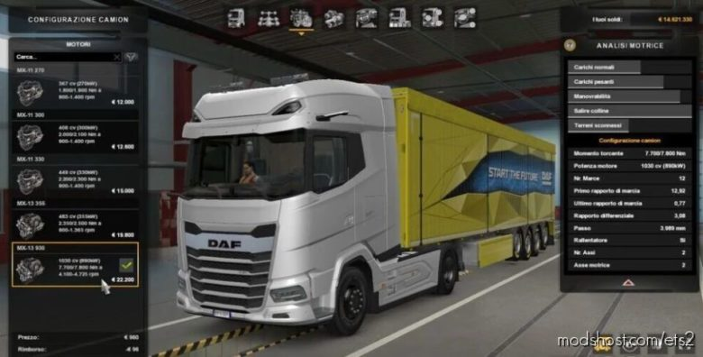 DAF XG 2021 – 1030 HP [1.40] for Euro Truck Simulator 2