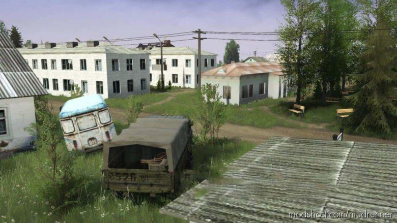 Unfamiliar Village Map for MudRunner