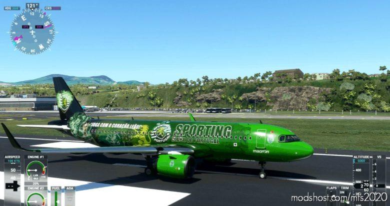 A320Neo 8K Sporting Clube DE Portugal for Microsoft Flight Simulator 2020