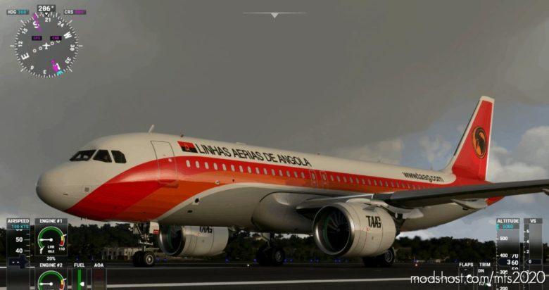 A320Neo 8K Taag Angola for Microsoft Flight Simulator 2020