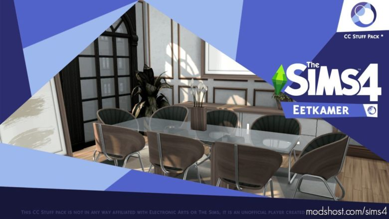 Eetkamer Dining Room for The Sims 4