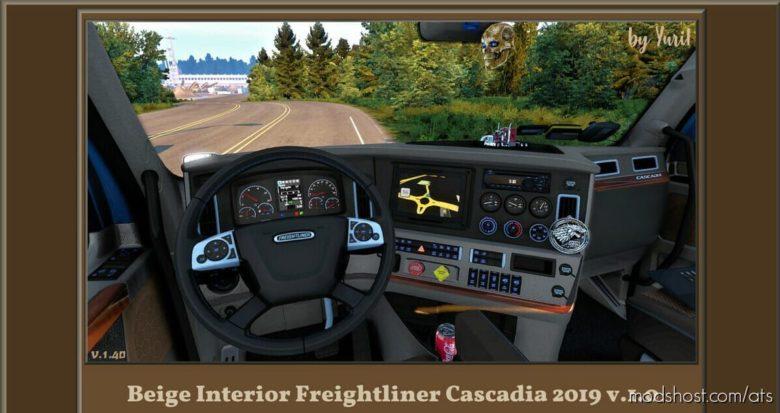 Beige Interior For Freightliner Cascadia 2019 for American Truck Simulator