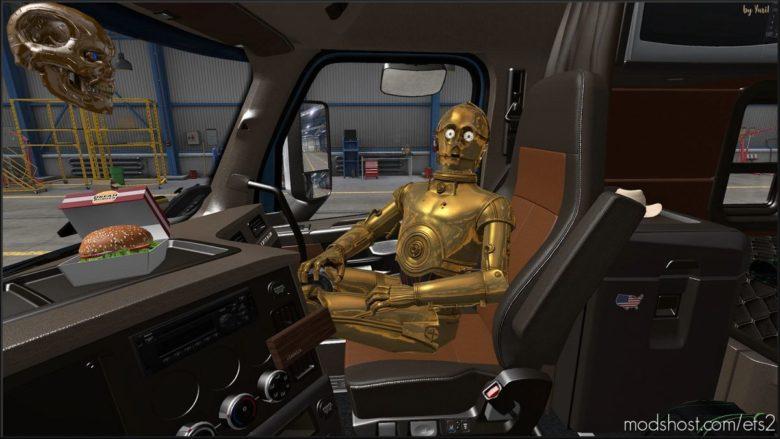 Beige Interior For Freightliner Cascadia 2019 for Euro Truck Simulator 2