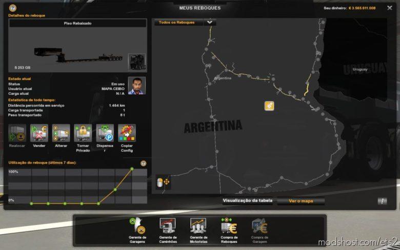 Profile Map Ceibo 1.7 Mods [1.40] for Euro Truck Simulator 2