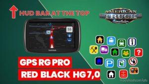 GPS RG PRO RED Black HG V7.0 for American Truck Simulator
