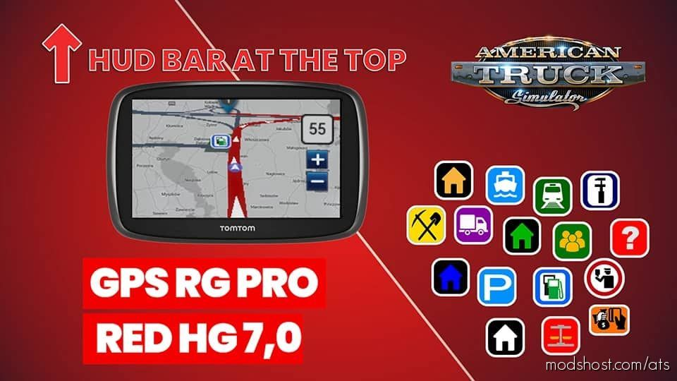 GPS RG PRO RED HG V7.0 for American Truck Simulator