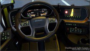 Dashboard Light Green For DAF 2021 XG V0.8 for Euro Truck Simulator 2