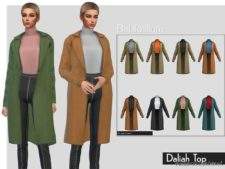 Belaloallure Daliah TOP for The Sims 4