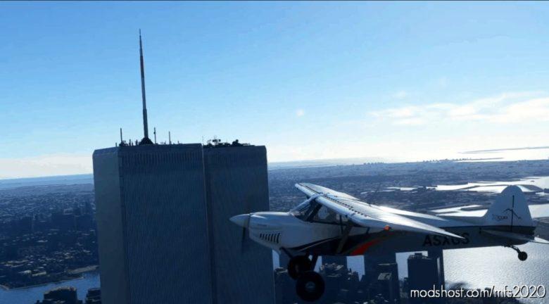 "NEW York, ""Twin Towers"" World Trade Center Before 2001. NY for Microsoft Flight Simulator 2020"