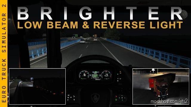 Brighter LOW Beam & Reverse Lights for Euro Truck Simulator 2