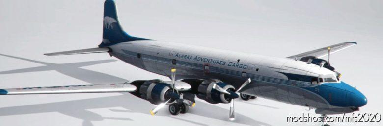 Pmdg DC-6A Alaska Adventures Cargo (N900AK) 1962 (Fictional) for Microsoft Flight Simulator 2020