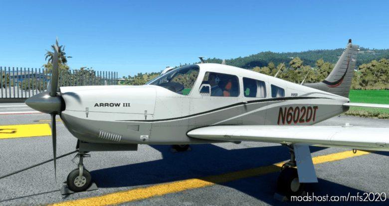 Paquete DE 4 Liveries Para EL Justflight PA 28 Arrow III for Microsoft Flight Simulator 2020