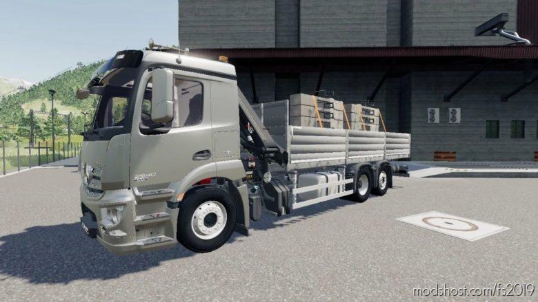 Mercedes Antos + Liebherr 81K for Farming Simulator 19