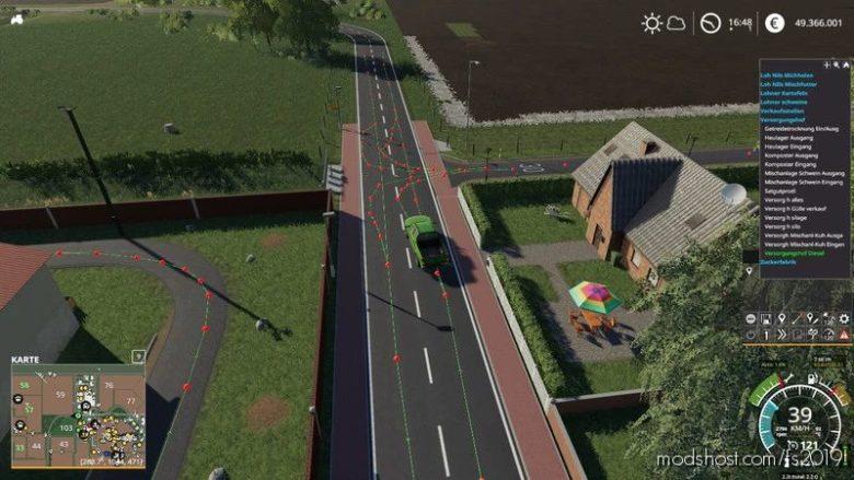 Autodrive Route Network Norddeich for Farming Simulator 19