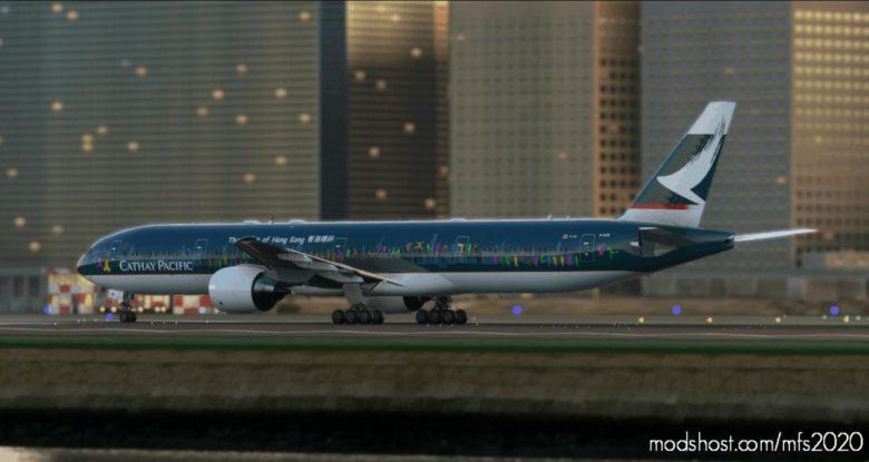 Cs-B777-300Er Cathay Pacific The Spirit Of Hong Kong B-Kpb Ultra – By Danr V1.1 for Microsoft Flight Simulator 2020