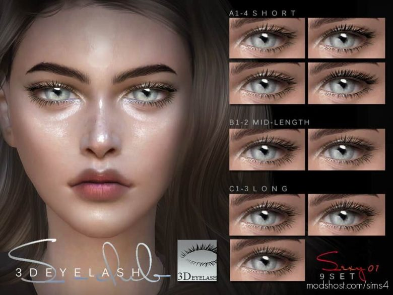 3D Eyelashes I F V1 Bassis for The Sims 4
