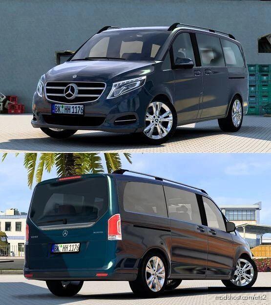 Mercedes-Benz W447 V-Class V4.1 [1.40 – 1.41.X] for Euro Truck Simulator 2