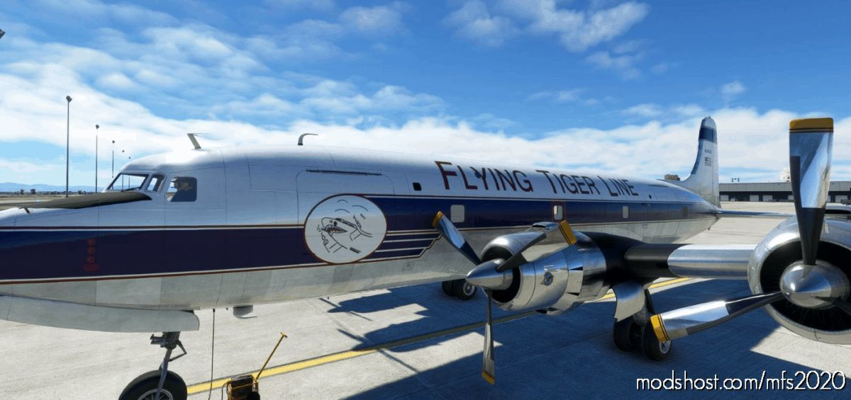 Pmdg DC-6A Flying Tigers Line (N34959 | 1957) for Microsoft Flight Simulator 2020