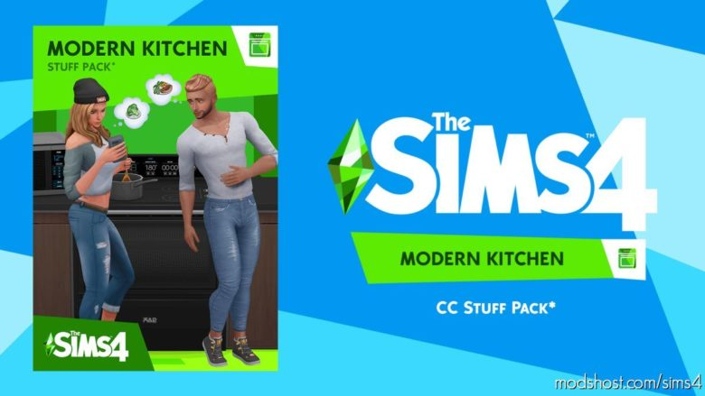 Modern Kitchen Stuff – Custom Stuff Pack for The Sims 4