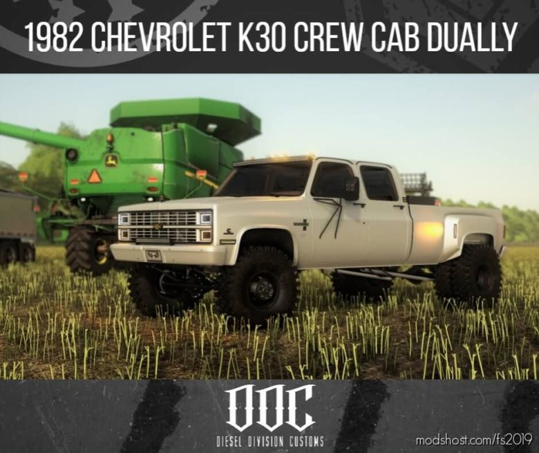 1982 Chevrolet K30 Crewcab Dually DDC V1.1 for Farming Simulator 19