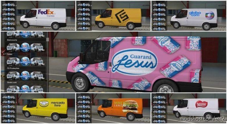 Skins Brasileiras for Ford Transit V2.0 for Euro Truck Simulator 2