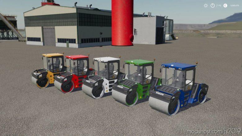 Volvo DD-105 Road Compactor for Farming Simulator 19