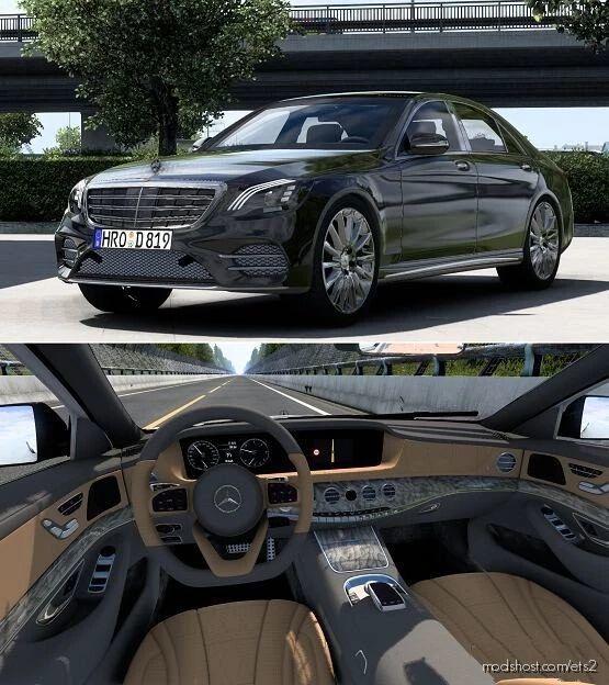 Mercedes-Benz W222 S-Class S-400D V4.1 for Euro Truck Simulator 2