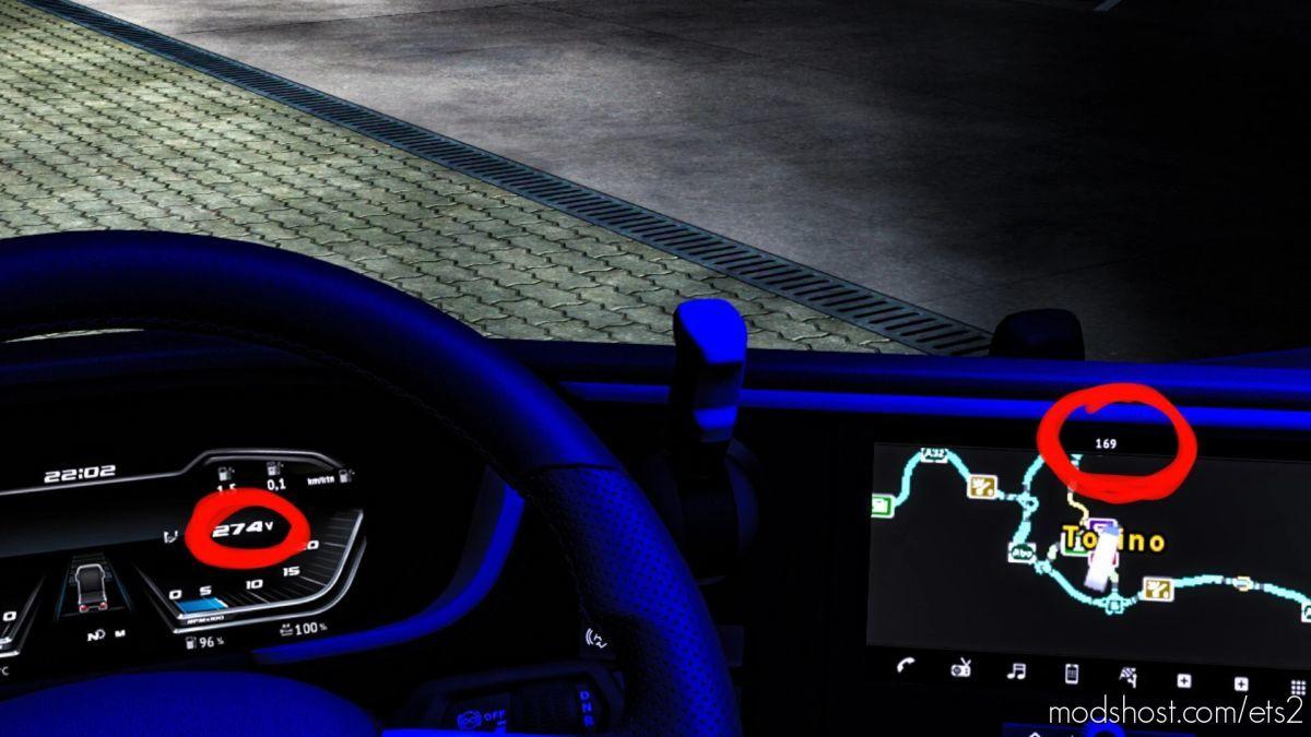 DAF XG 2021 SET Voltage & Engine Running Time for Euro Truck Simulator 2