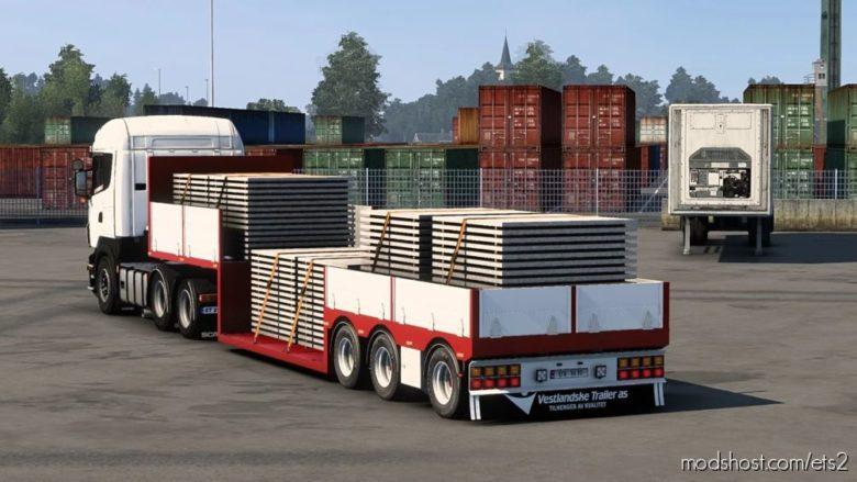 Flatbed Trailer Gargoes [1.41.X] for Euro Truck Simulator 2