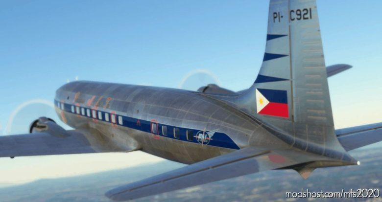 [8K] DC-6B Philippine AIR Lines INC. (PI-C921) for Microsoft Flight Simulator 2020