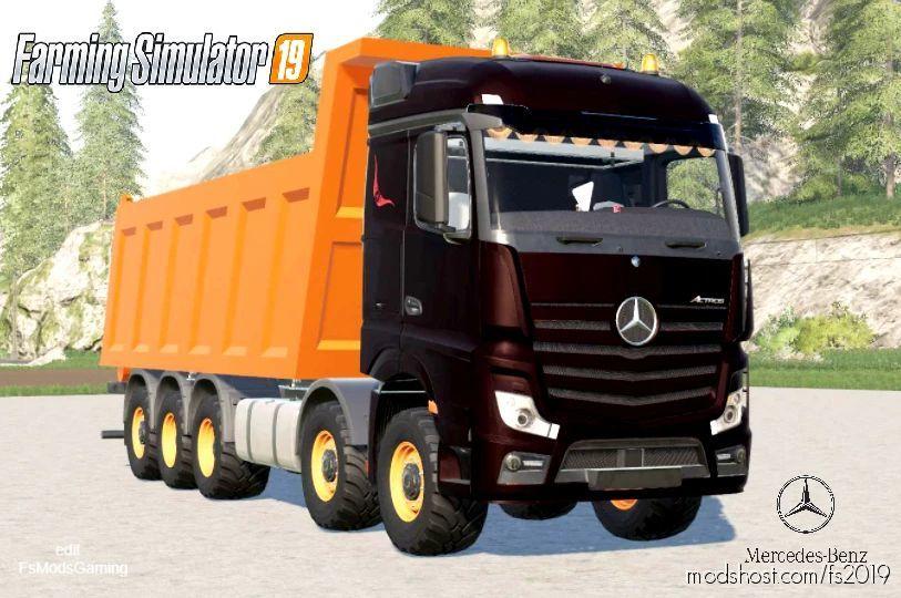 Mercedes Benz Actros (MP4) 10X10 Tipper for Farming Simulator 19