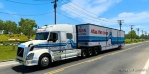 Atlas VAN Lines Truck Skin For VNL 730 for American Truck Simulator