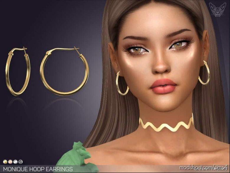 Monique Hoop Earrings for The Sims 4