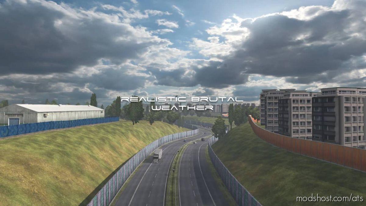 Realistic Brutal Weather V3.7 [1.40] for American Truck Simulator