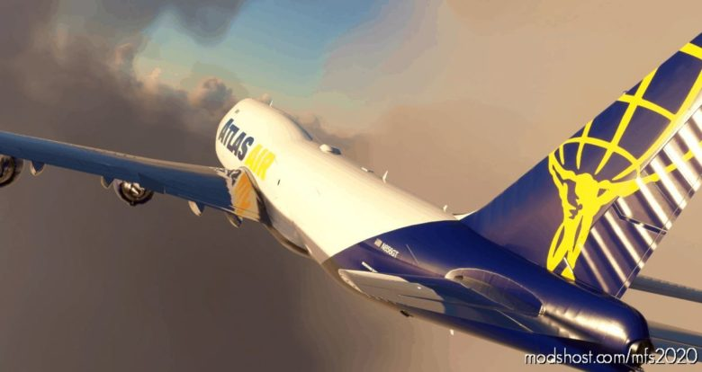 Boeing 747-8F | Atlas/Qantas | N856GT | NO Mirroring for Microsoft Flight Simulator 2020