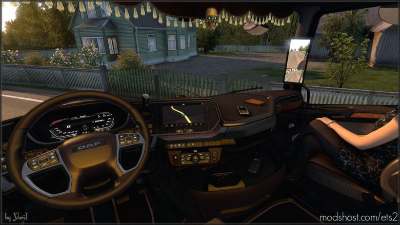 Dark Brown Interior For Daf Xg V0.8 for Euro Truck Simulator 2