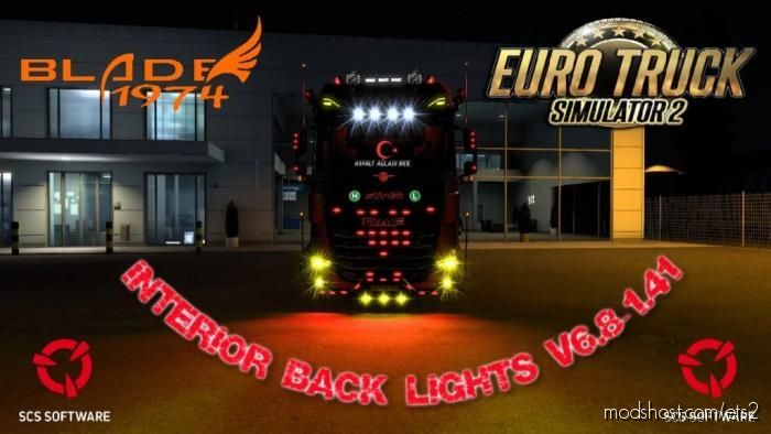 Interior Back Lights V6.8 for Euro Truck Simulator 2