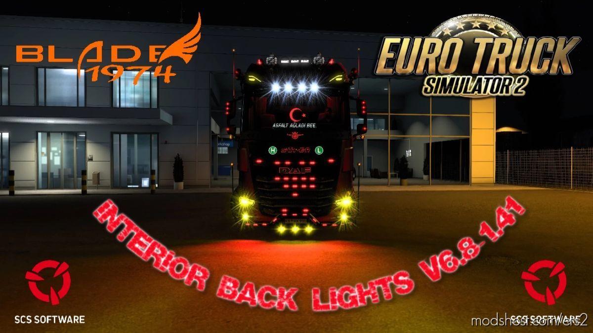 Interior Back Lights V6.8 [1.41.X] for Euro Truck Simulator 2
