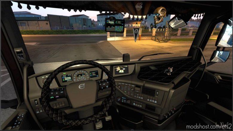 Brown Interior For Volvo FH16 2012 V0.8 for Euro Truck Simulator 2