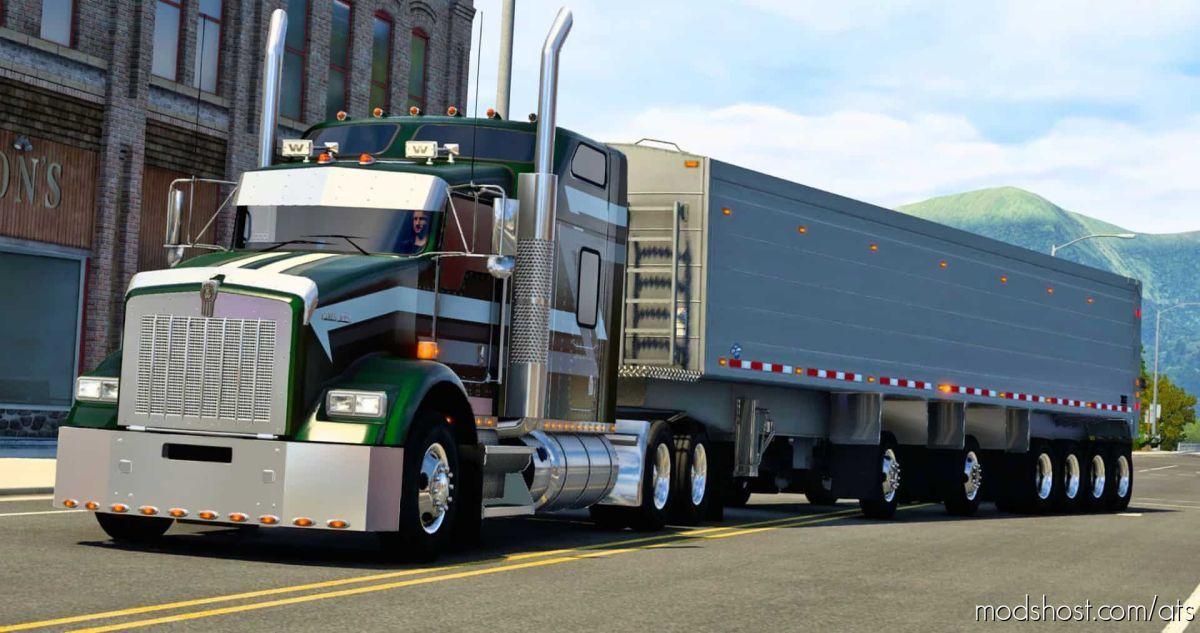 Titan Thin Wall END Dump Trailer Ownable [1.40] for American Truck Simulator