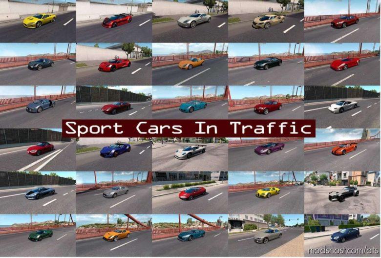 Sport Cars Traffic Pack By Trafficmaniac V8.6.1 for American Truck Simulator