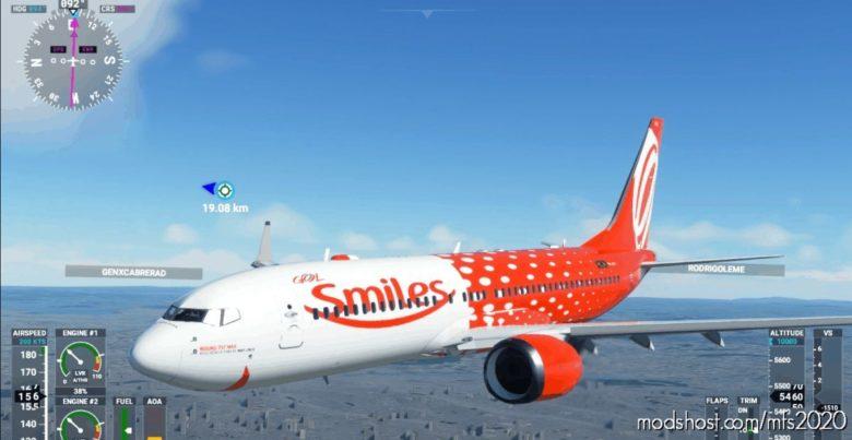 GOL Smiles-737 V1.2 for Microsoft Flight Simulator 2020