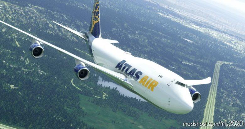 Boeing 747-8F | Atlas | N852GT | NO Mirroring for Microsoft Flight Simulator 2020