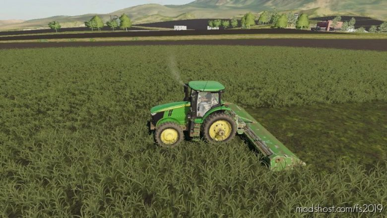 John Deere 520 Flail Mower V1.1 for Farming Simulator 19