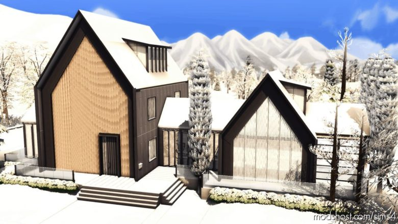 Scandinavian House – NO CC for The Sims 4