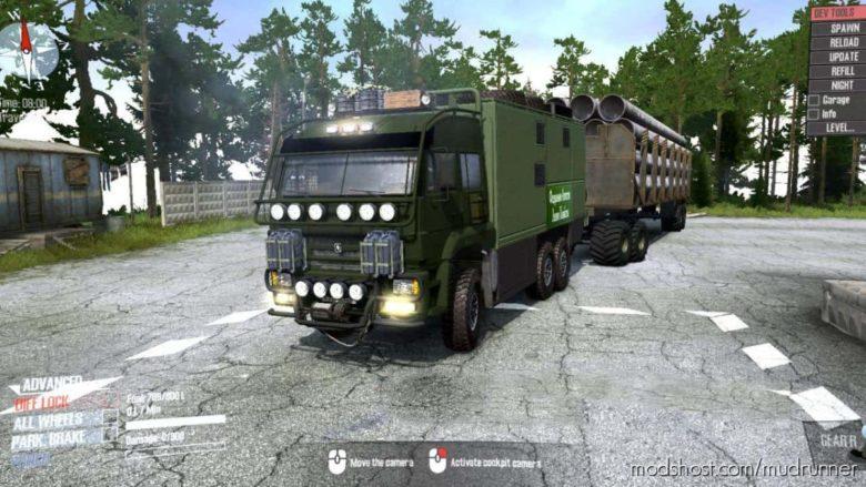 Kamaz 635050 Forester Truck V2.0 for MudRunner