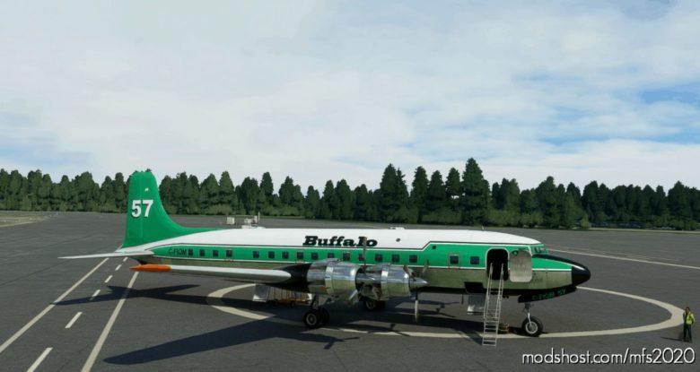 Pmdg DC-6B Interpretation Buffalo Airways C-Fiqm NO 57 for Microsoft Flight Simulator 2020