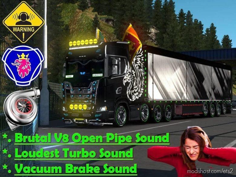 V8 Open Pipe Brutal Sound Mod for Euro Truck Simulator 2